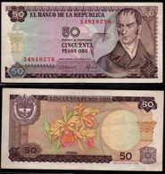 COLOMBIA - 1970 - CINCUENTA PESOS ORO ( $ 50 ) - CIRCULATED. CONDITION 7/10-TONING BORDERS - Colombie