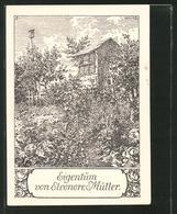Exlibris Eleonore Müller, Imker - Bienenstöcke In Einem Naturbelassenen Garten - Exlibris