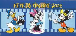 Cinéma Carton Invitation Adressé Par Disney Pour La Fête Du Timbre 2004 Mickey Minnie Donald - Disney