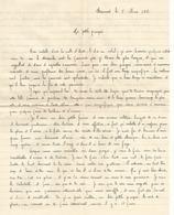 Lettre D'amour Du 8 Mars 1953 D'un Militaire à Son épouse - - Manuscrits