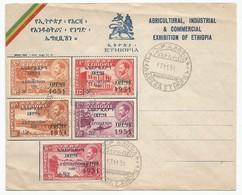 Ethiopia Ethiopie Mi.299/303 Complete Set On FDC1951 Industrial Exhibition - Ethiopie