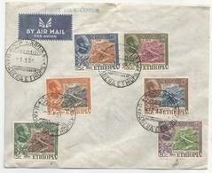 Ethiopia Ethiopie Mi.285/90 Complete Set On Blanco Cover With First Day Cancel 1951 FDC Bridge - Äthiopien