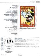 Cinéma Pages Philinfo Fête Du Timbre 2004 Mickey Minnie Donald + 4 Timbres Dont La Série De 3 Réunis - Disney