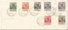 Ethiopia Ethiopie Mi.311/17 Complete Set On Blanco Cover With First Day Cancel 1952 FDC Haile Selassie Birthday - Äthiopien