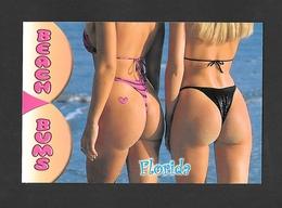 PIN UPS - HUMOUR - FLORIDA - 2 JOLIES JEUNES FILLES SUR LA PLAGE - NICE BEACH BUMS - PHOTO DON CEPPI - Pin-Ups