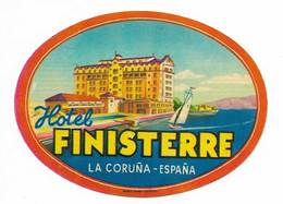 Etiquette Valise Hotel Finisterre La Coruña Espagne España Spain Luggage Label - Etiquettes D'hotels