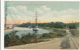 GUYANA - BRITISH GUIANA - Messrs. Sproston's Timber Flats At Wismar, Demerara (Ships, Railway) - By R. P. Kaps, # 195:09 - Ansichtskarten