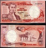 COLOMBIA - 1985 - CIEN PESOS ORO ( $ 100 ) - CIRCULATED. CONDITION 7/10 - Colombie