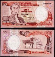 COLOMBIA - 1987 - CIEN PESOS ORO ( $ 100 ) - UNCIRCULATED. CONDITION 9/10 - Colombie