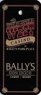 Bally's Wild Wild West Casino  Atlantic City, NJ Key Ring Dangle - Casino Cards