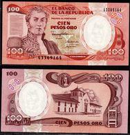 COLOMBIA - 1990 - CIEN PESOS ORO ( $ 100 ) - UNCIRCULATED. CONDITION 9/10 - Colombie
