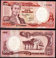 COLOMBIA - 1991 - CIEN PESOS ORO ( $ 100 ) - UNCIRCULATED. CONDITION 9/10 - Colombie