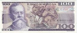 México 100 Pesos 25-3-1982 UT Pick 74c UNC - Messico