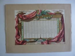 CHROMOLITHOGRAPHIE  ALMANACH -CALENDRIER 1858  JOURNAL DES FAMILLES / Dupuy  Edit Mazerolle - Calendriers