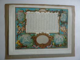 CHROMOS- ALMANACH - CALENDRIER  1870  Médaillon Allegorie Angelots   -Edit Mayoux Et Honoré Imp. - Calendriers