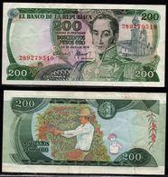 COLOMBIA - 1978 - DOSCIENTOS PESOS ORO ( $ 200 ) - CIRCULATED. CONDITION 7/10 - Colombie