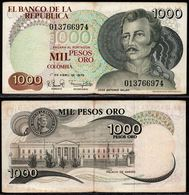 COLOMBIA - 1979- MIL PESOS ORO ( $ 1000 ) - CIRCULATED. CONDITION 6/10 - Colombie