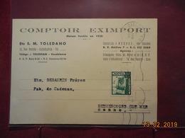Carte De 1950 Du Maroc Pour Bethencourt/mer - Maroc (1891-1956)