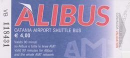 602b/ ALIBUS Catania Airport Shuttle Bus (Catania, Italy). Ticket Airport. Billet Aérroport. Biglietto Aeroporto. - Bus