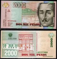 COLOMBIA - 2008- DOS PESOS  ( $ 2000 ) - UNCIRCULATED. CONDITION 9/10 - Colombie