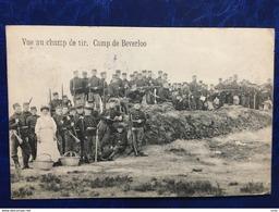 Camp De Beverloo/-cpa D'une Vue Au Champ De Tir-1913-animée De Soldats Et Une Dame Avec Corbeilles - Leopoldsburg (Camp De Beverloo)
