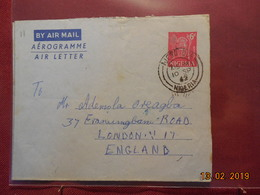 Aerogramme Du Nigeria De 1962 Pour Londres - Nigeria (1961-...)