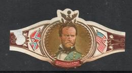 GENERAAL W.T. SHERMAN SERIE XIV  NR 71- American Civil War US Flag, Confederate Flag - WASHINGTON Bague De Cigar - Etiquettes