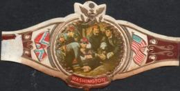 DOOD VAN MAJOOR GENERAAL JOHN SEDGWICK  SERIE XIV  NR 107- American Civil War US And Confederate Flag - WASHINGTON Bague - Etiquettes