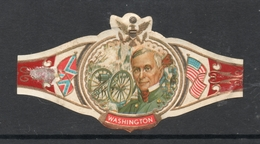 R ANDERSON SERIE XXII  NR 28- American Civil War US Flag, Confederate Flag - WASHINGTON - Etiquettes