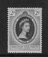 British Solomon Islands 1953 QEII Coronation MLH - British Solomon Islands (...-1978)