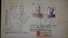 O) 1964 HUNGARY, GALILEO GALILEI -IMRE MADACH, REGISTERED FROM BUDAPEST TO BRAZIL - Chile