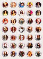 35 X Tori Amos Music Fan ART BADGE BUTTON PIN SET 1 (1inch/25mm Diameter) - Music