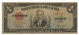 Cuba 1 Peso Certificado De Plata, 1938, VG. Rare. SEE DESCRIPTION CAREFULLY. - Cuba