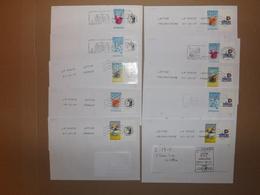 """(L13-5)   2 Séries   10 Lettres ,Timbres Sur Lettres Personnalisées  TPP """"""""  Enveloppes Tres Bon Etat - France"""