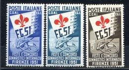 ITALIA  REPUBBLICA  1951 CONCORSI GINNICI == MNH** - 1946-60: Mint/hinged