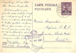 1945- C P E P 75 C / 1,50 De LUXEMBOURG  Pour Paris Censure N°148 - Luxembourg