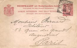 Briefkaart 7 1/2cents Nanul. Squared Circle  WELTEBREDEN - Indes Néerlandaises