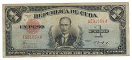 Cuba 1 Peso Certificado De Plata, 1943, VG+. Rare. SEE DESCRIPTION CAREFULLY. - Cuba