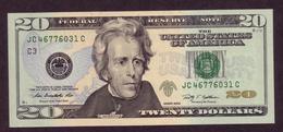 USA, 20$, 2009, UNCL, - Billets De La Federal Reserve (1928-...)