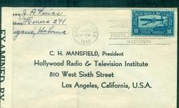 CUBA 1942 Pour LOS ANGELES Radio & Télévision + Censure.sujet Rare. - Cuba