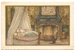 Geboortekaartje Carte De Naissance - Kaatje Plasman - Veurne -  6 April 1957 - Illustr Anton Pieck - Naissance & Baptême