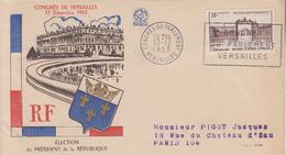 Enveloppe  FDC   FRANCE   Congrés  Du  Parlement   VERSAILLES   1953 - FDC