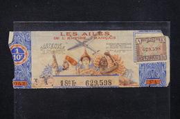 """FRANCE - Billet De Loterie De 1942  """" Les Ailes De L 'Empire Français """" - L 22705 - Billets De Loterie"""