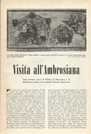 VISITA ALL'AMBROSIANA 1953 ARTICOLO RITAGLIATO DA GIORNALE - Altri