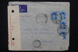 EGYPTE - Enveloppe Commerciale De Alexandrie Pour La France En 1940 Avec Contrôle Postal Sud Africaine - L 22710 - Ägypten