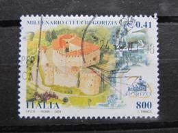 *ITALIA* USATI 2001 - MILLENARIO GORIZIA - SASSONE 2540 - LUSSO/FIOR DI STAMPA - 6. 1946-.. Repubblica
