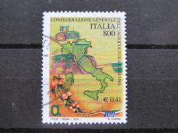 *ITALIA* USATI 2001 - CONF GEN AGRICOLTURA ITALIANA - SASSONE 2539 - LUSSO/FIOR DI STAMPA - 6. 1946-.. Repubblica