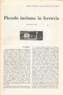 PICCOLO TURISMO IN FERROVIA DALL'ALTO PO ALLA LAGUNA VENETA 1953 ARTICOLO RITAGLIATO DA GIORNALE - Altri