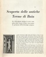 LA SCOPERTA DELLE ANTICHE TERME DI BAIA 1953 ARTICOLO RITAGLIATO DA GIORNALE - Altri