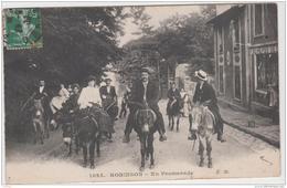 PLESSIS ROBINSON EN PROMENADE SUR DES ANES 1908 TBE - France